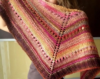 jaleo, knitted shawl in gradient colors
