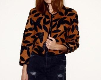 80s Vintage Leather Jacket /// 1980s // 90s