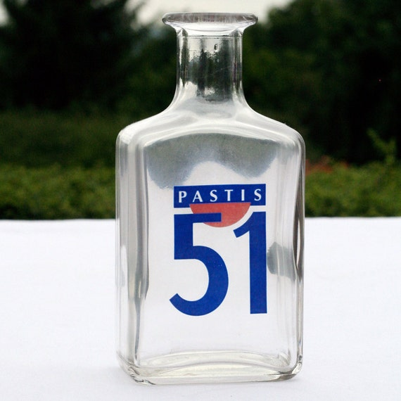 original vintage french pastis 51 glass carafe by alexandercahill. Black Bedroom Furniture Sets. Home Design Ideas