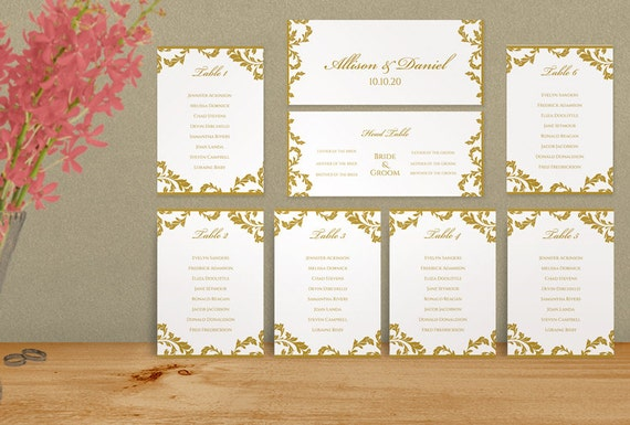 wedding seating chart template download by karmakweddings on etsy. Black Bedroom Furniture Sets. Home Design Ideas
