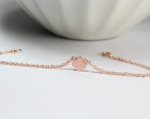 Rose Gold Spade Necklace, Spade Bracelet, Alice in wonderland, Casino Jewelry,Ace of Spades, Playing cards ,Rose Gold Spade Jewelry