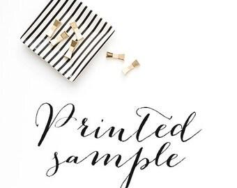 Printed Wedding Invitation Sample