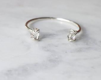 Herkimer Diamond Sterling Silver Cuff