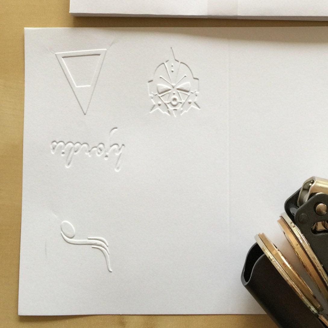 Diy Leather Embossing Stamp: Custom Letter Press Embosser Stamp DIY Embossing Stamp