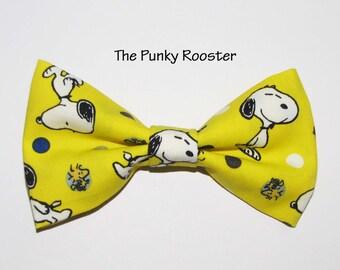 Snoopy Bow Tie, Clip on Bow Tie, Cartoon Bow Tie
