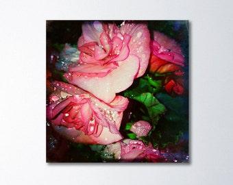 Spring Burst Photography, Floral Canvas, Modern Photography, Flower Canvas Wall Art, Pink Floral Art, Dreamy Bedroom Art, Nature Canvas Art