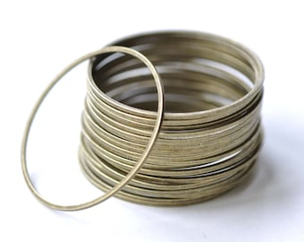Large Brass Seamless Rings Antique Bronze Finish 30mm  Set of 20 A8130