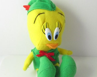 Christmas Tweety Bird Elf Plush Toy Looney Tunes McDonalds 1992