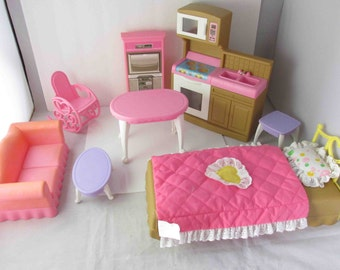 1990s Step 2 Fashion Place Doll House Furniture Set With Box (Not Complete, Doll Not Included)