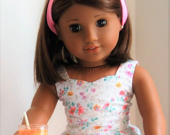 Food For American Girl Dolls - Mango, Peach Smoothie in A Glass