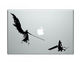 """Final Fantasy 7 Sephiroth and Cloud """"One Winged Angel"""" Vinyl Decal"""
