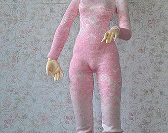 Pink&silver knitted jumpsuit for Minifee