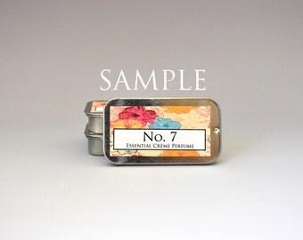 SAMPLE No. 7 Solid Crème Perfume, Solid Perfume, Oil Perfume, Perfume Oil, Essential Oil Perfume, Natural Perfume, Essential Oil Perfume