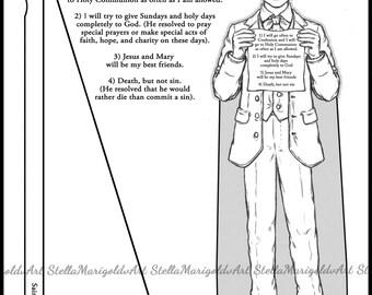Patron saint doll etsy for Saint dominic savio coloring page