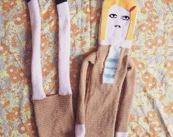 Unique Hand Knitted Film Star Margot Tenenbaum Scarf