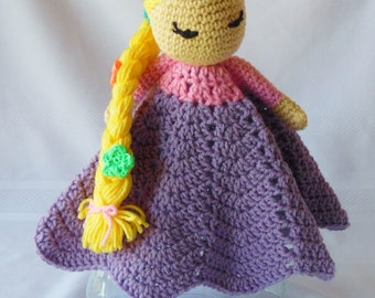 Princess Rapunzel Inspired Lovey/Security Blanket