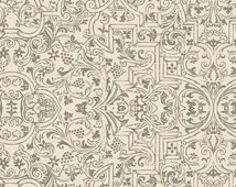 Something Wicked Brocade - Stephanie Marrot for Wilmington Fabrics 84383 199 Ivory - 1/2 yard