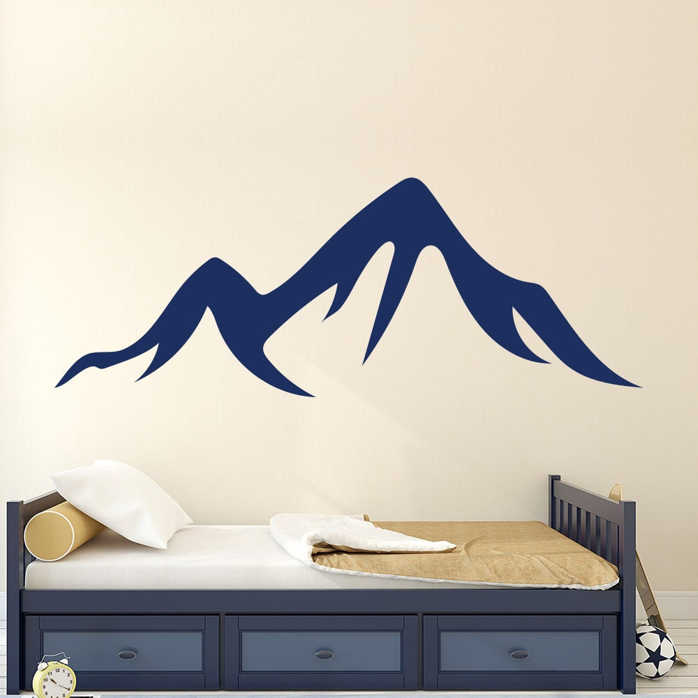 Mountains Removable Vinyl Stickers Nursery Kids By DecalHouse