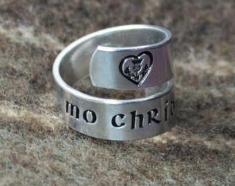 Mo Chridhe Wrap Ring - Scottish Jewelry