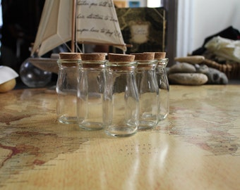 5 Milk Bottle Shaped Glass Potion Bottle