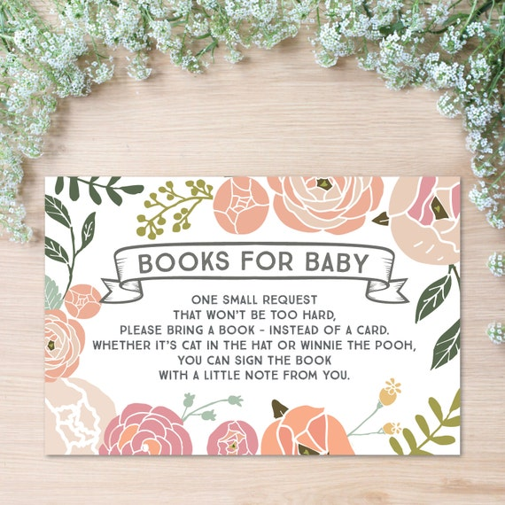 at home instead of a card bring a book book for baby shower diy