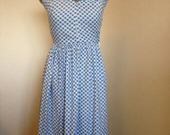 Blue and White 1950s/1960s Gingham Sundress