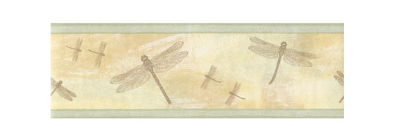 textured dragonfly wallpaper border