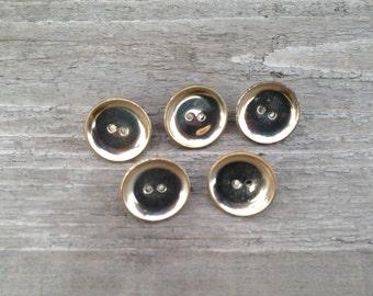 vintage button push pins / button thumb tacks / vintage buttons / bulletin board decor / gold buttons / button pins / cork board pins