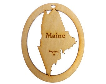 Maine Ornament -  Maine State Ornament - Maine Gift - Maine Christmas Ornament - Maine Decor - Maine Souvenirs - Personalized Free