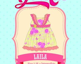 Laila Ruffle Dress PDF Sewing Pattern: Sizes 1 to 10