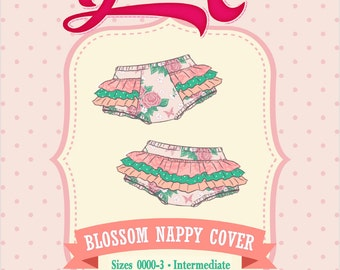 Ruffled Blossom Nappy Cover PDF Sewing Pattern: Size Newborn to 3