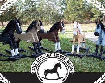 Beautiful handmade wooden rocking horses