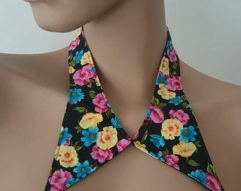 collar retro flower