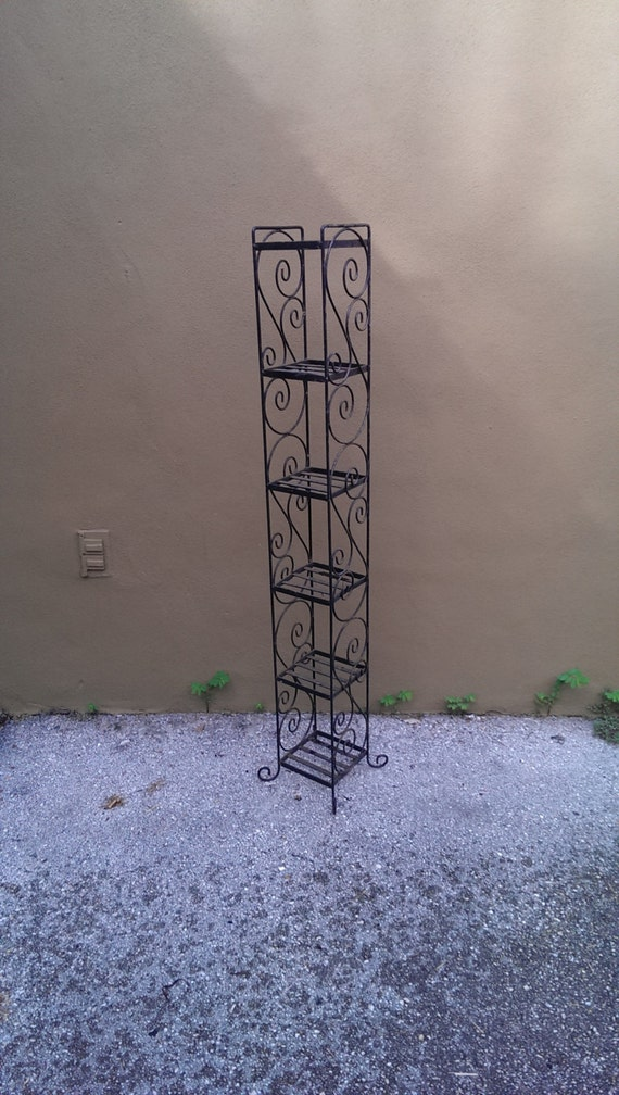 tall skinny black wrought iron plant stand. Black Bedroom Furniture Sets. Home Design Ideas