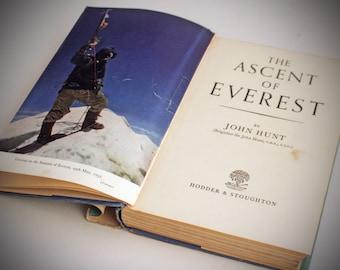 Ascent of Everest 1954 John Hunt colour plates Hardback adventure climbing