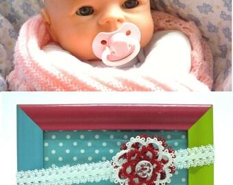 Newborn Flower Headband Flower Baby Headband Baby Photo Prop White Red Lace Headband Toddler Headband Baby Shower Gift for Girls Baby Shower