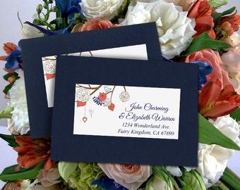 "Return Address Label Template - Wedding RSVP Address Label Printable Template - ""Mason Jar"" Invitation Label - Digital Template"