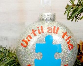 Autism Teacher Christmas Ornament Autism Awareness Ornament