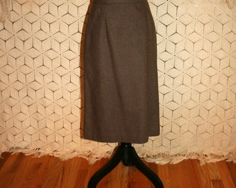 80s Brown Wool Skirt Vintage Skirts Brown Skirt Fall Skirt Midi Skirt 80s Skirts Vintage Clothing Size 6 Skirt Small Medium Womens Clothing