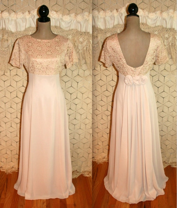 Vintage formal blush pink wedding dress bridesmaid dress train for Wedding dress dry cleaning near me