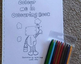 personalised colour me in colouring book