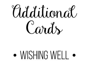 PRINTED Add-On Cards Wishing Well