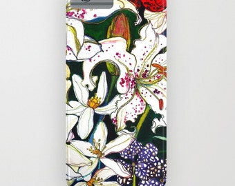 Lilies & Orchids // Phone Case // iPhone  5c // iPhone 5/5s // iPhone 5c // iPhone 6/6s // Samsung Galaxy S7