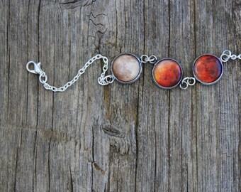 Lunar Eclipse Bracelet, Lunar Eclipse, Moon Eclipse, Moon Phases, Moon Eclipse Phases, Full Moon Bracelet, Solar System Bracelet, Eclipse