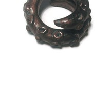 Tentacle ring, Tentacle jewelry, Gift for her, Gift for him, Christmas gift, Octopus ring, Octopus jewelry, Steampunk gift, kraken ring, sea