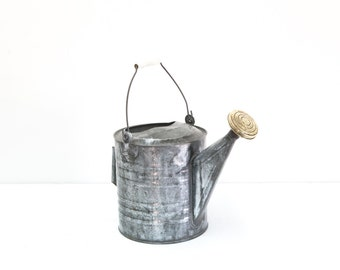 Tin & Brass Watering Can