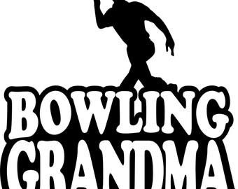 Bowling Grandma T Shirt/ Bowling Grandma Shirt/ Bowling Grandma Clothing/ Bowling Grandma/ Boy Bowler Bowling Grandma Short Sleeve T Shirt