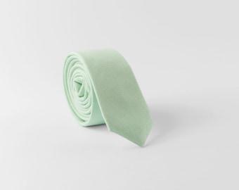 Skinny tie, Dark mint tie, Mint color tie, Wedding tie, Grooms necktie, Skinny necktie, Standard necktie, Bow tie, Pocket square, Linen tie