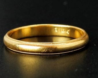 14k Gold Vintage Band Size 11.5