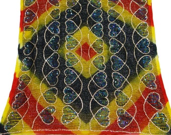 Vintage Clothing Long Stole Vintage Tissue Embroidered Dupatta Traditional Clothing Used Recycle Multicolor Stole Hijab Indian Scarf DP25723